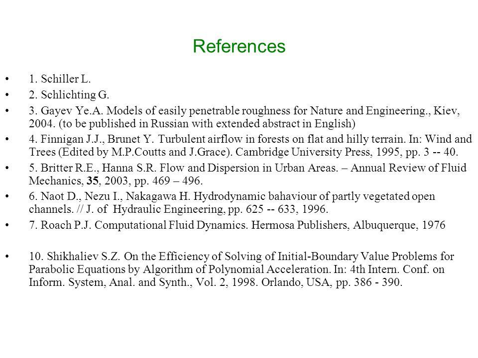 References 1. Schiller L. 2. Schlichting G. 3.