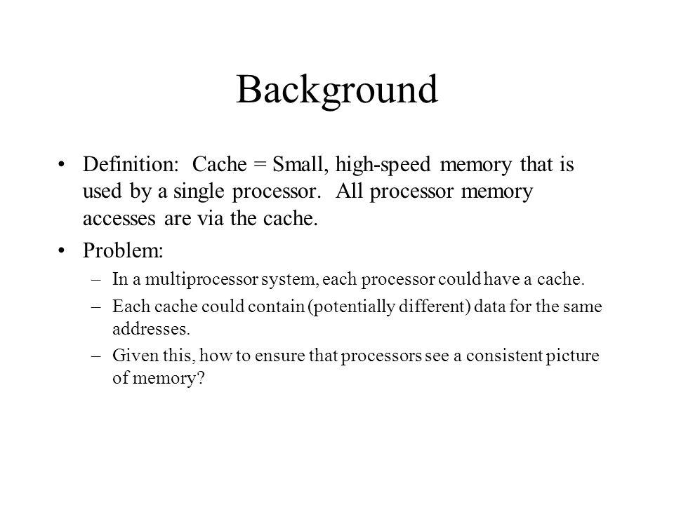 Solution 1 Split MainCache and Snooper into separate processes.