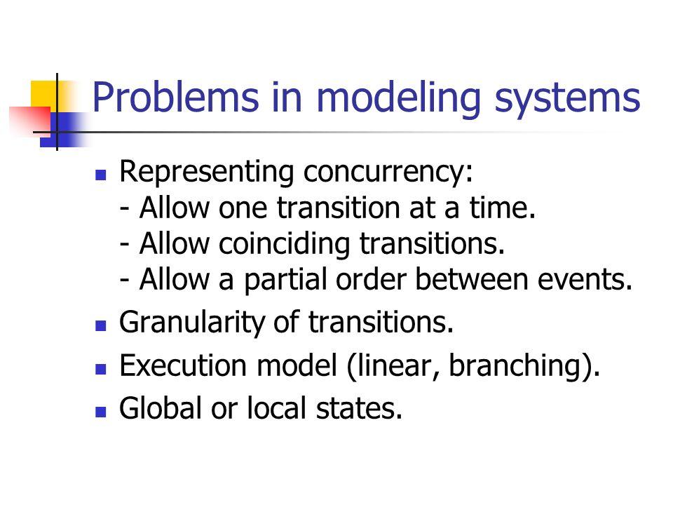 Temporal Logic (informal) First order logic or propositional assertions describe a state.