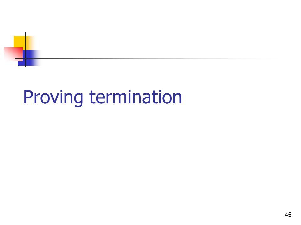 45 Proving termination