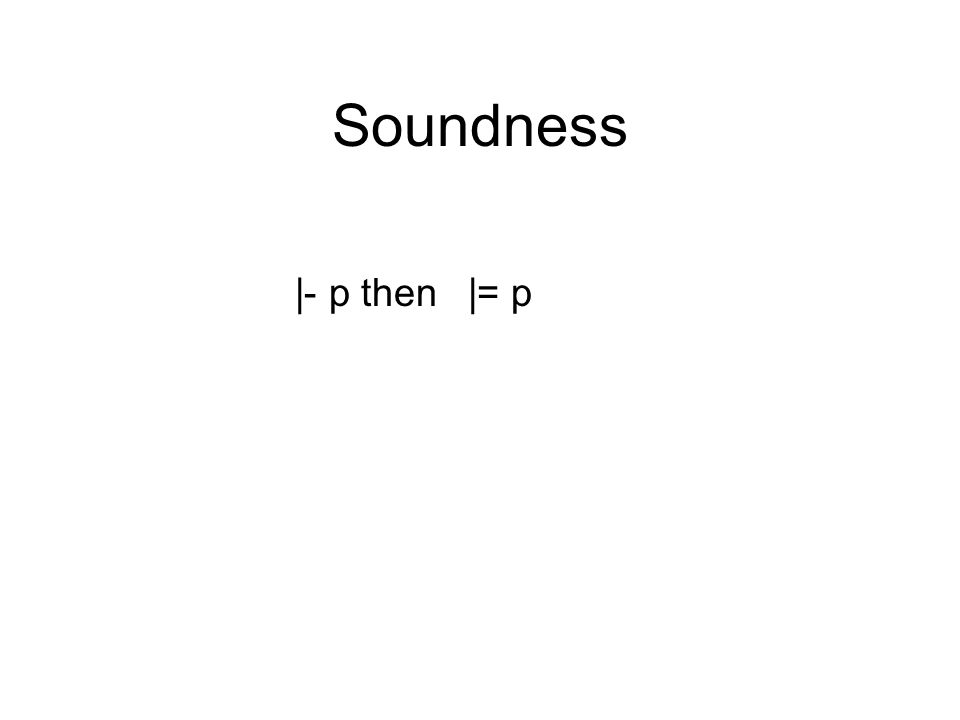 Soundness |- p then |= p