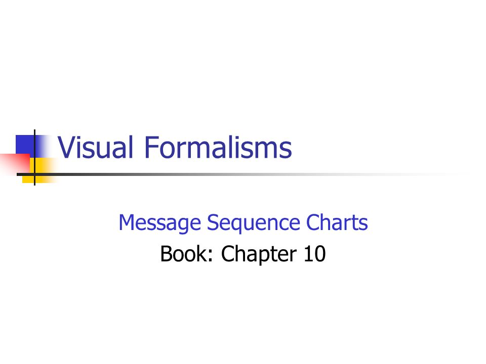 MSCs An ISO standard notation (Z120).Visual + Textual forms.