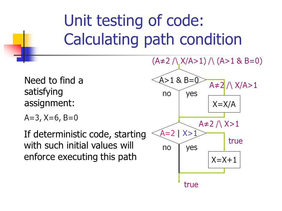 Spec: ¬ at l 2 U (at l 2 /\ x y /\ ( ¬ at l 2 /\( ¬ at l 2 U at l 2 /\ x 2 y ))) ¬ at l 2 at l 2 /\ x y ¬ at l 2 at l 2 /\ x 2 y l 2 :x:=x+z l 3 :x<t l1:…l1:… l 2 :x:=x+z l 3 :x<t l 2 :x:=x+z X = x y x 2 y Now simplify condition using theorem proving.