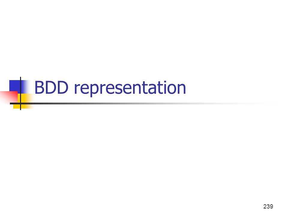 239 BDD representation