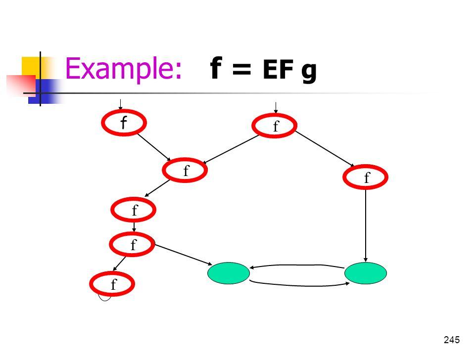 245 g g g f f f f f f f Example: f = EF g
