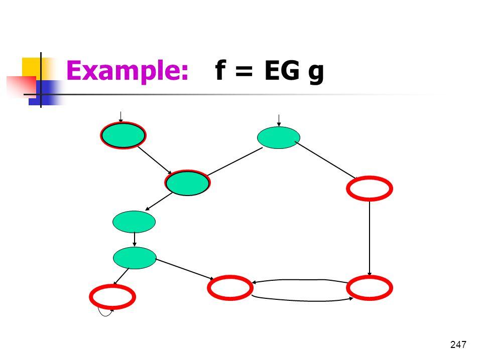 247 g g g g g g Example: f = EG g