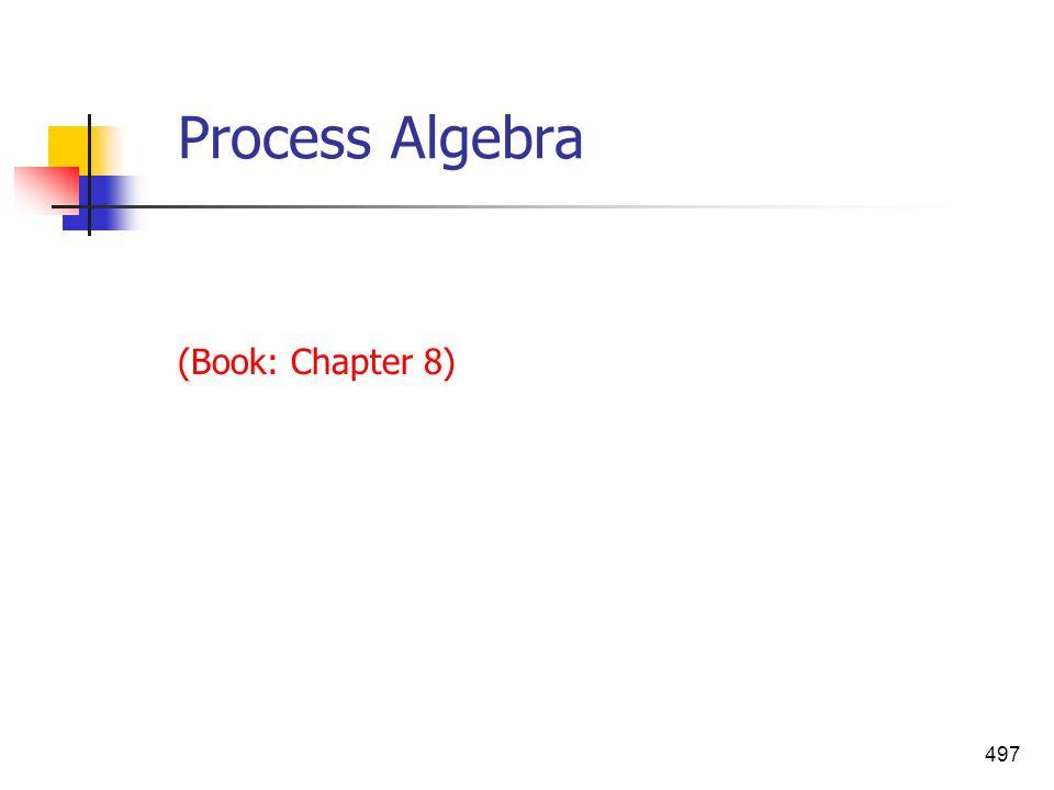 497 Process Algebra (Book: Chapter 8)