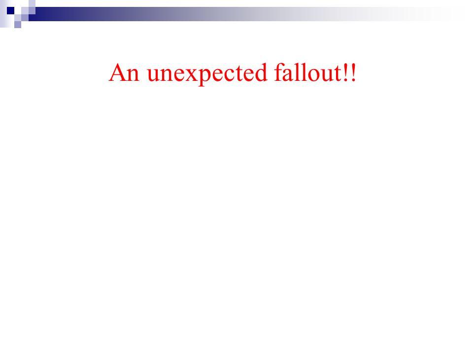 An unexpected fallout!!