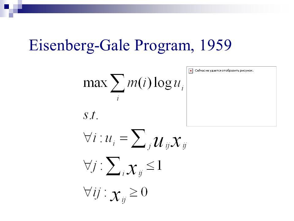 Eisenberg-Gale Program, 1959