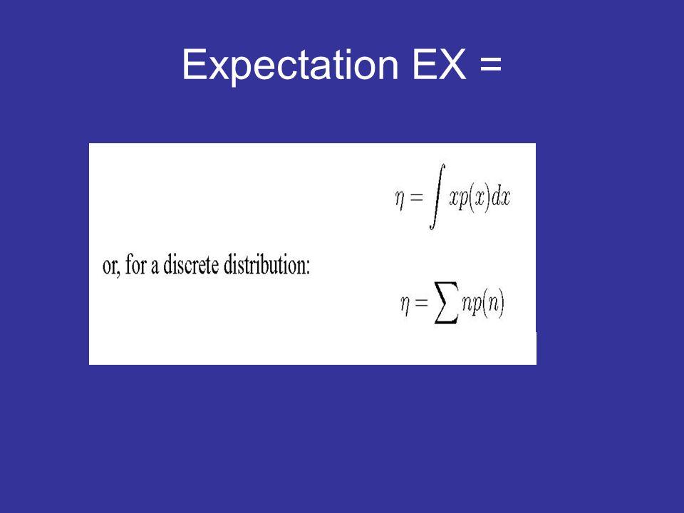 Expectation EX =