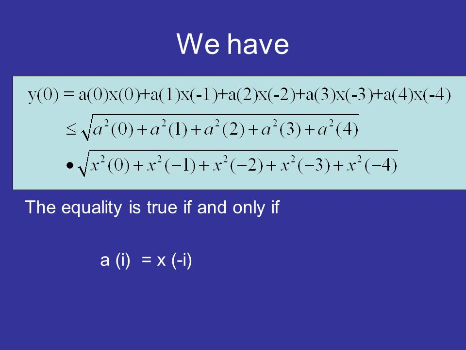We have The equality is true if and only if a (i) = x (-i)