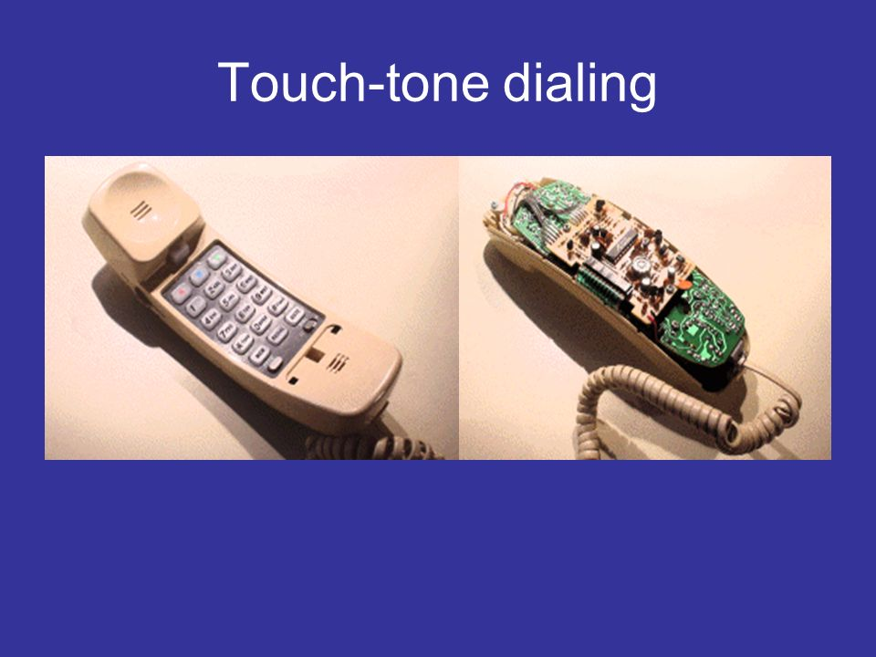 Touch-tone dialing