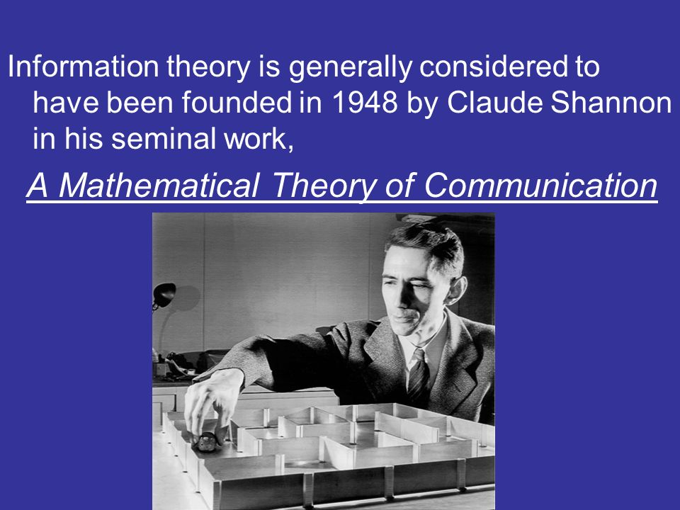 The central paradigm of classic information theory is the engineering problem of the transmission of information over a noisy channel.