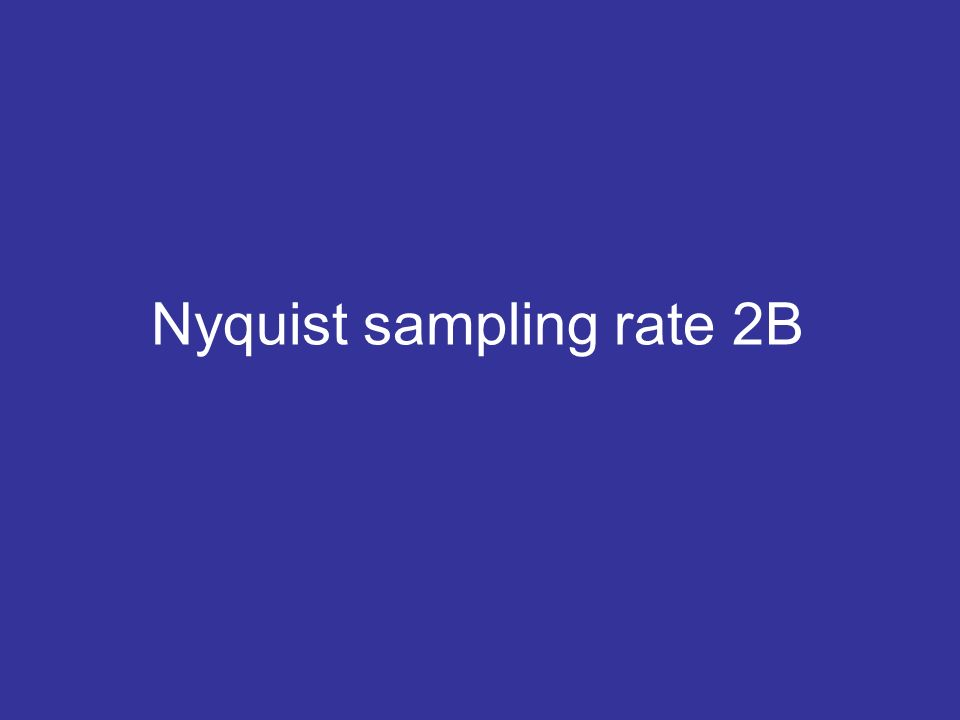 Nyquist sampling rate 2B