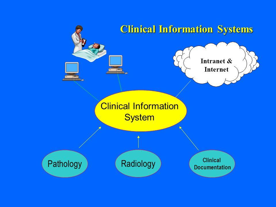 Radiology Clinical Documentation Pathology Clinical Information Systems Clinical Information System Intranet & Internet
