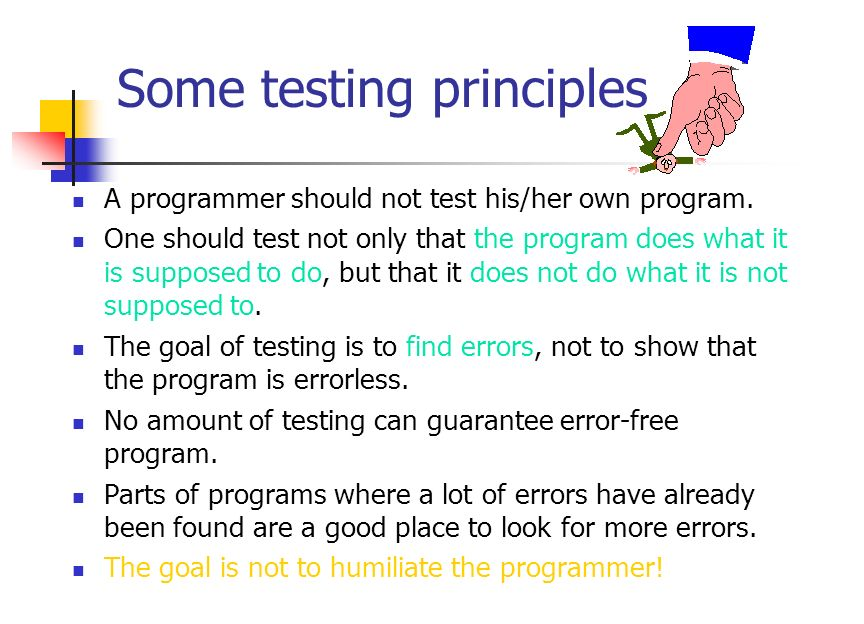 White-Box testing Is based on the internal structure of the program.
