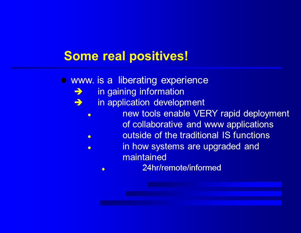 Some real positives. l www.
