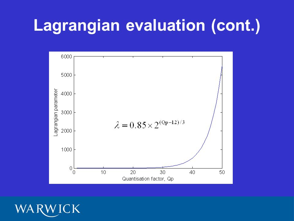 Lagrangian evaluation (cont.)