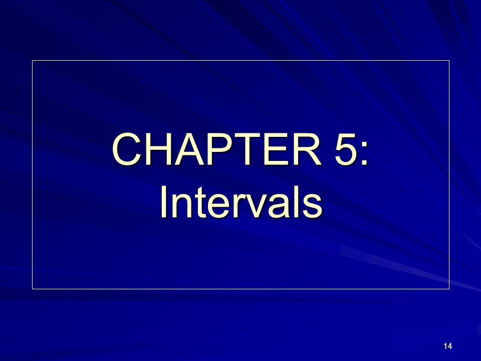 14 CHAPTER 5: Intervals