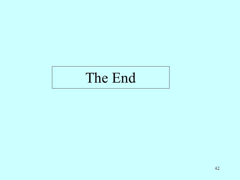 42 The End