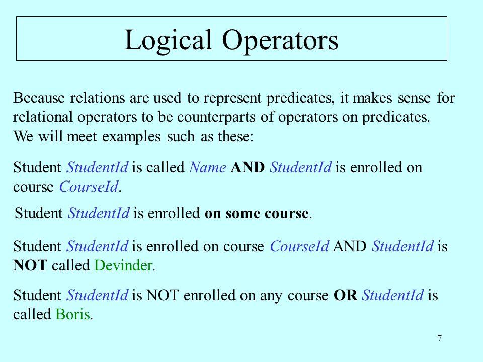 28 More Aggregate Operators SUM ( EXAM_MARK, Mark ) = 342 AVG ( EXAM_MARK, Mark ) = 68.4 MAX ( EXAM_MARK, Mark ) = 93 MIN ( EXAM_MARK, Mark ) = 49 MAX ( EXAM_MARK WHERE CourseId = CID ( C2 ), Mark ) = 49