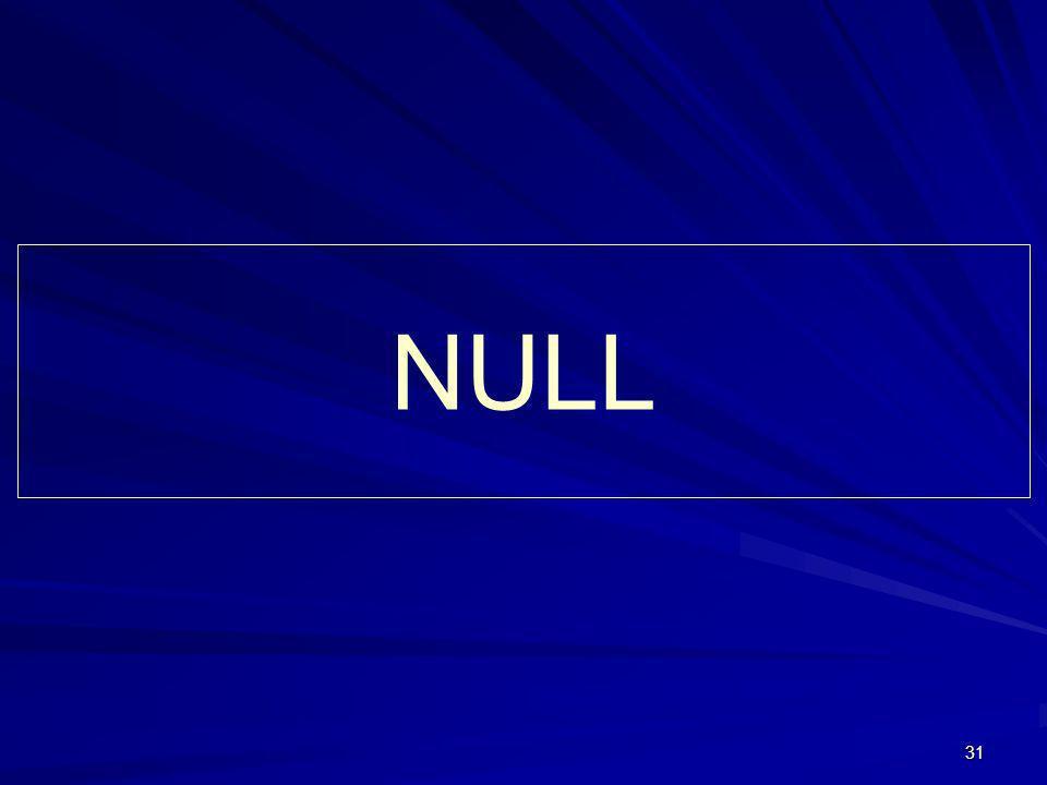 31 NULL