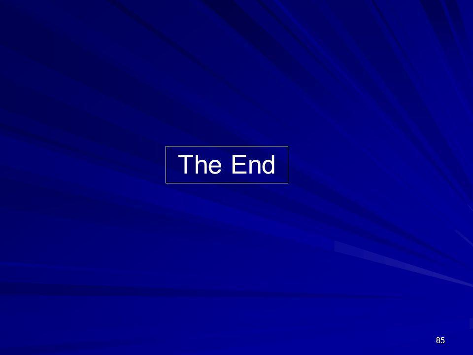 85 The End