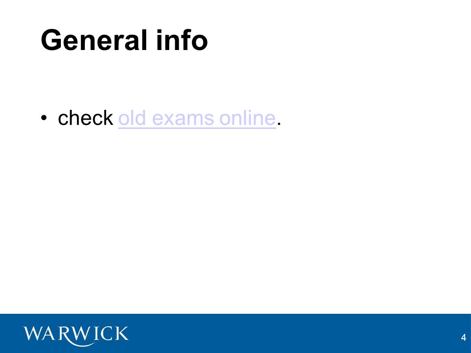 4 General info check old exams online.old exams online