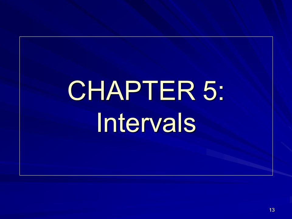 13 CHAPTER 5: Intervals