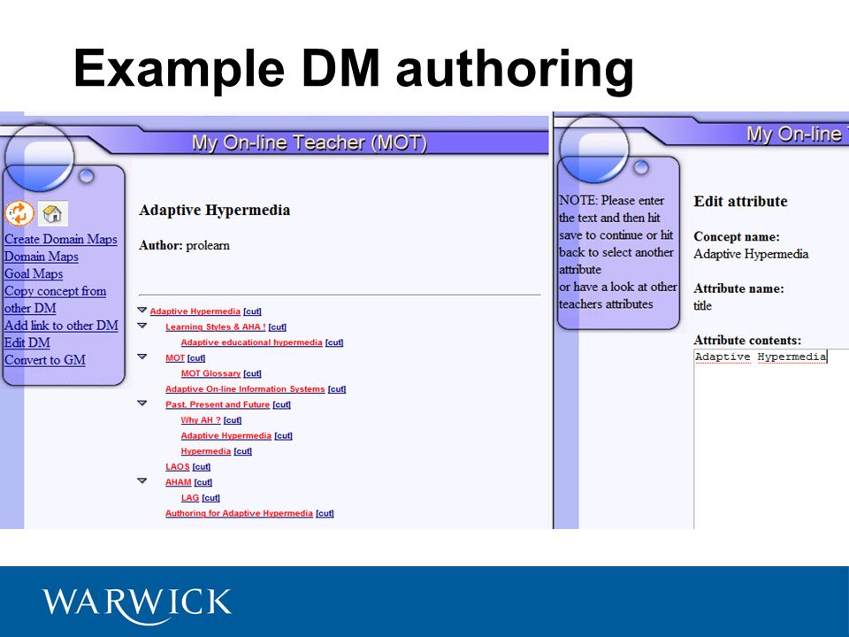 Example DM authoring