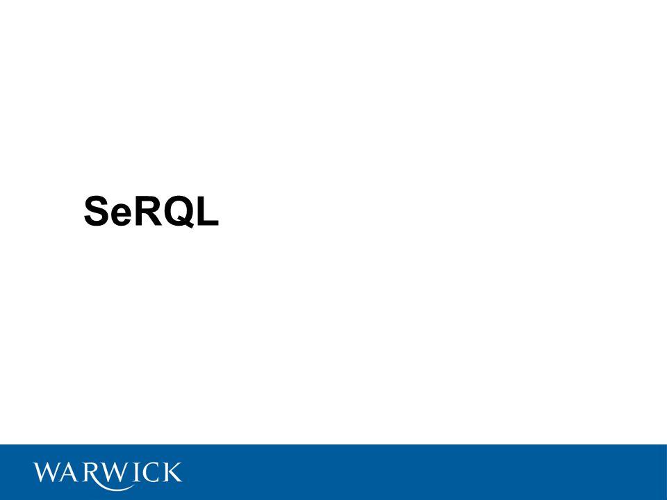 Reified statements { {reifSubj} reifPred {reifObj} } pred {obj} Equivalent to: {_Statement} rdf:type {rdf:Statement}, {_Statement} rdf:subject {reifSubj}, {_Statement} rdf:predicate {reifPred}, {_Statement} rdf:object {reifObj}, {_Statement} pred {obj}