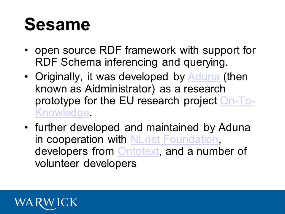 SeRQL s features Graph transformation.RDF Schema support.