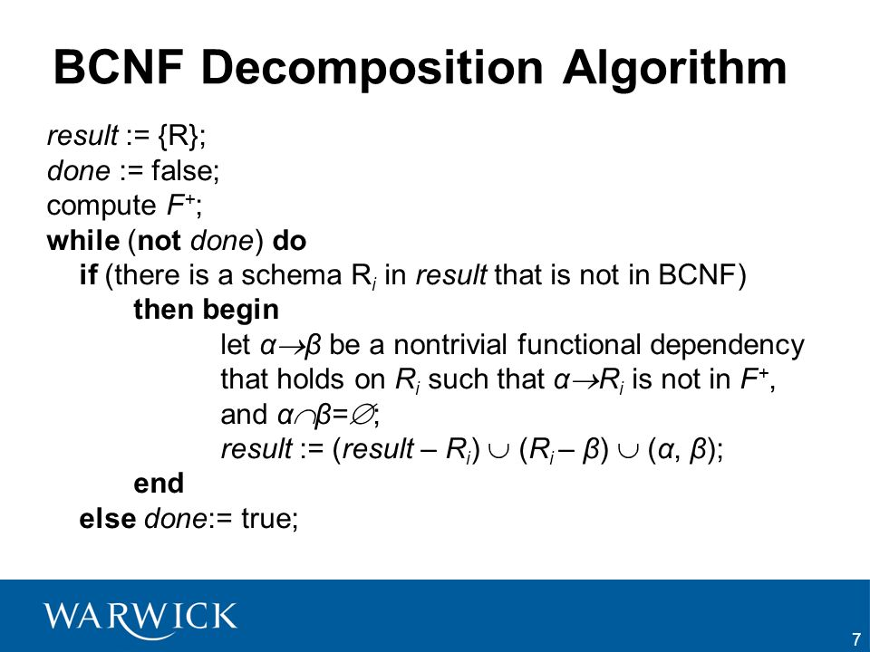 38 Summary We have learned: –LLJ –DP –BCNF + algorithm –3 rd NF + algorithm