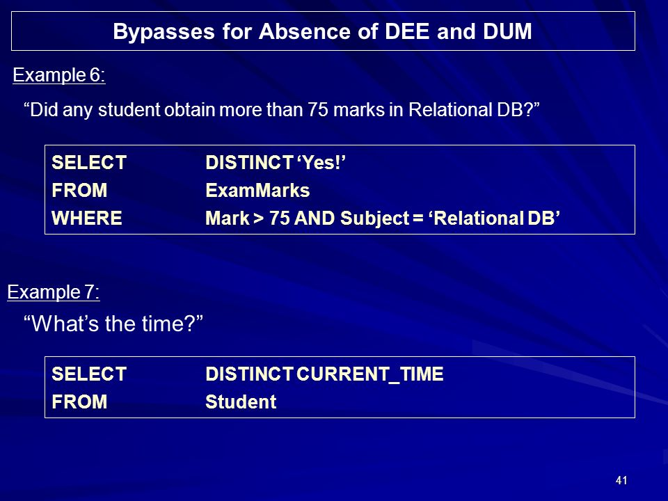 41 Did any student obtain more than 75 marks in Relational DB.