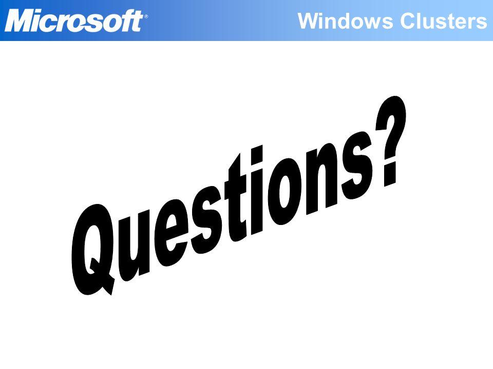 Windows Clusters