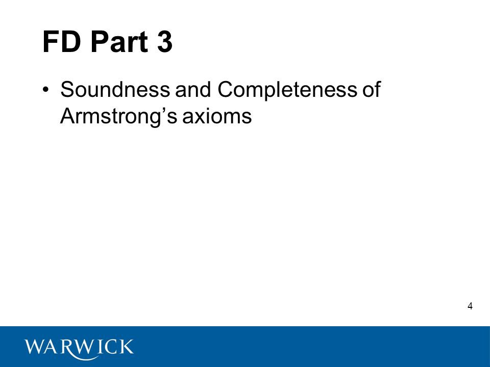 FD Part 3 Soundness and Completeness of Armstrongs axioms 4