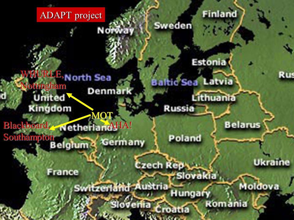PROLEARN International Summer School 27May – 2June 2007 ADAPT project MOT AHA.