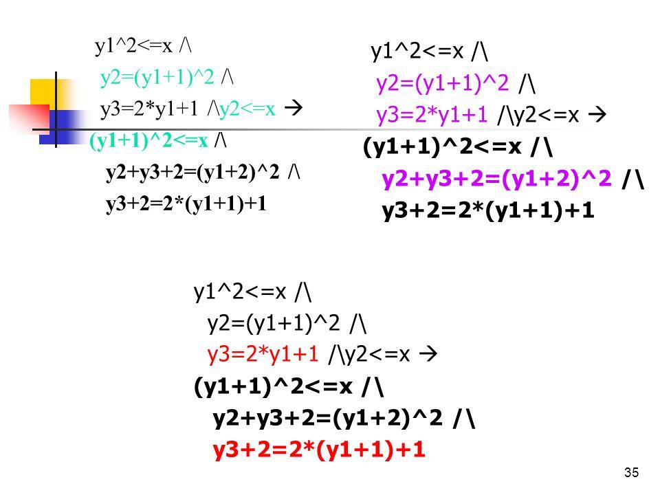 35 y1^2<=x /\ y2=(y1+1)^2 /\ y3=2*y1+1 /\y2<=x (y1+1)^2<=x /\ y2+y3+2=(y1+2)^2 /\ y3+2=2*(y1+1)+1 y1^2<=x /\ y2=(y1+1)^2 /\ y3=2*y1+1 /\y2<=x (y1+1)^2<=x /\ y2+y3+2=(y1+2)^2 /\ y3+2=2*(y1+1)+1 y1^2<=x /\ y2=(y1+1)^2 /\ y3=2*y1+1 /\y2<=x (y1+1)^2<=x /\ y2+y3+2=(y1+2)^2 /\ y3+2=2*(y1+1)+1