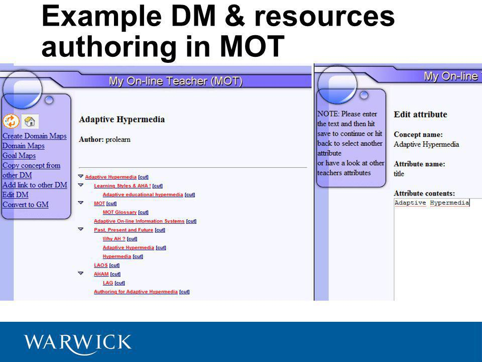 Example DM & resources authoring in MOT