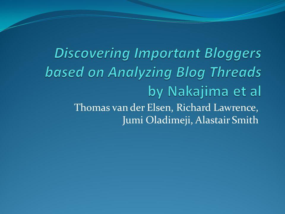 Thomas van der Elsen, Richard Lawrence, Jumi Oladimeji, Alastair Smith