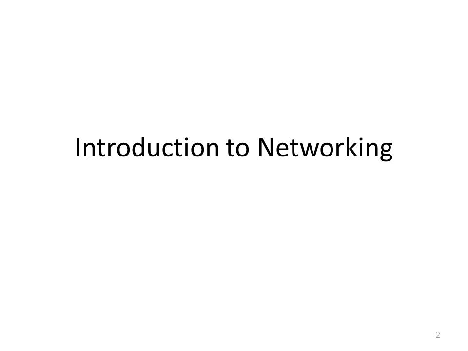 Introduction to Networking 2