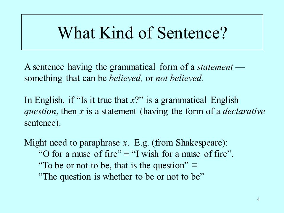 4 What Kind of Sentence.