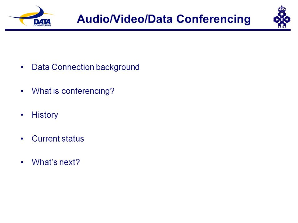 ISDN (H.320) Videoconferencing Room System Conferencing Networks (2) Telephone IP Network NetMeeting H.323 - H.320 Gateway ISDN (H.320) Videoconferencing Room System Public ISDN Network Public Switched Telephone Network DC-Share for UNIX