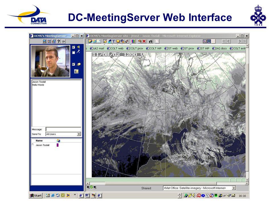 DC-MeetingServer Web Interface