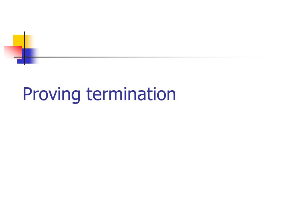 Proving termination