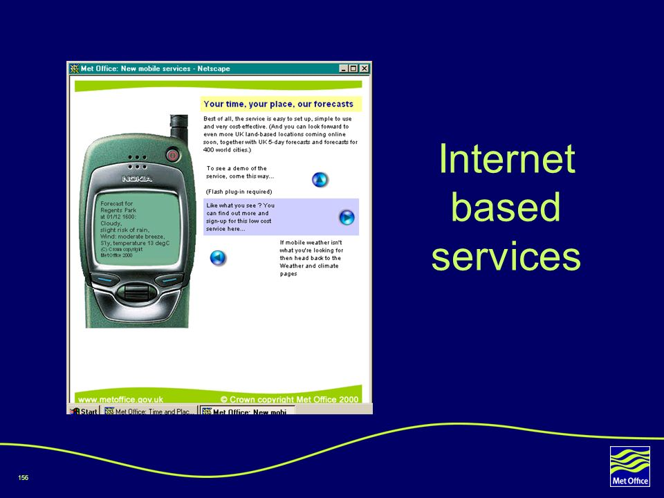 156 Internet based services