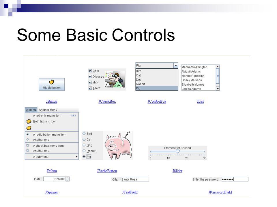 Some Basic Controls