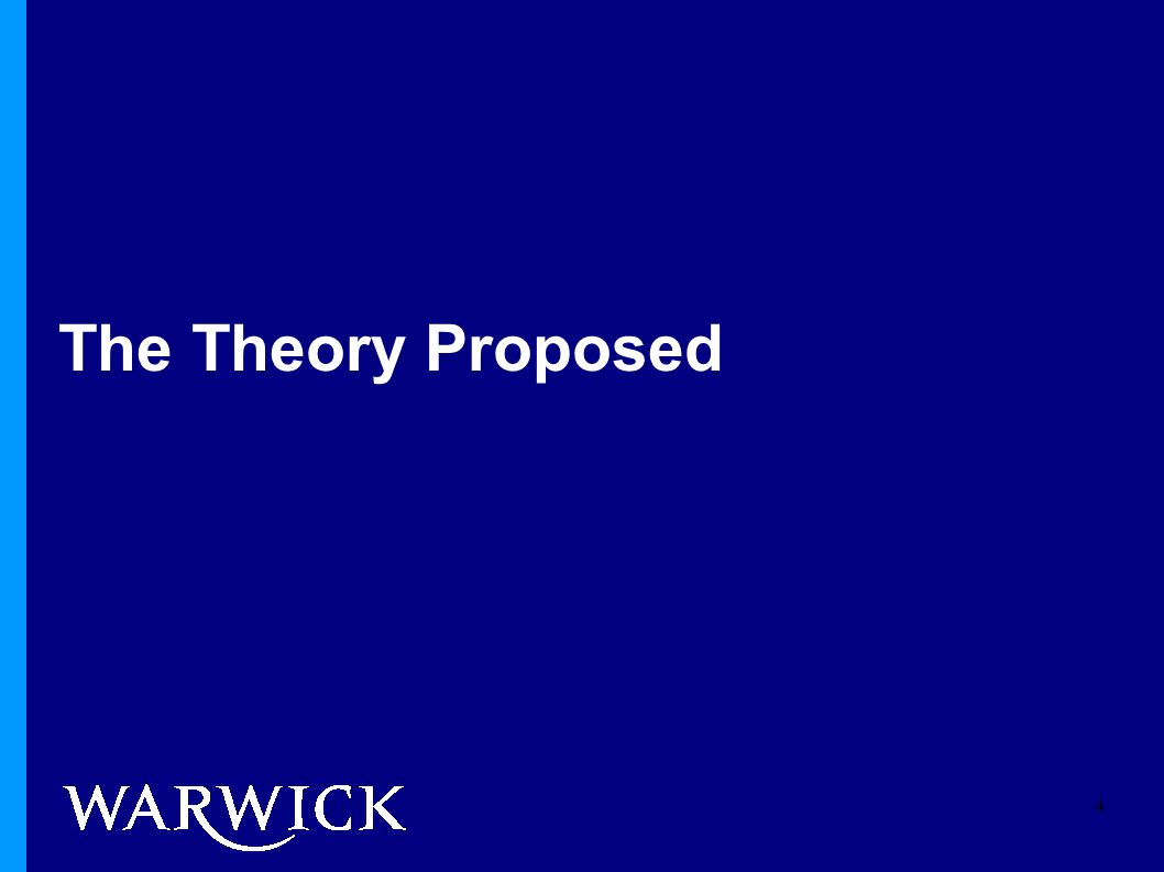 The Theory Proposed 4