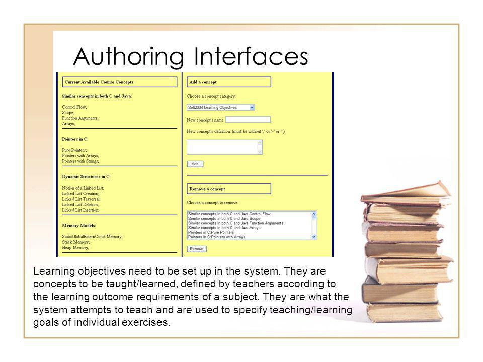 Authoring Interfaces – Stage I In the first stage, an author provides the problem statement and, optionally, a skeleton answer to help the student.