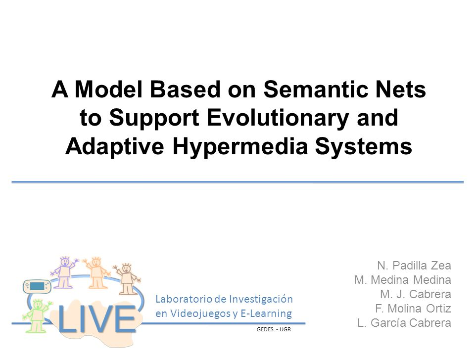 A Model Based on Semantic Nets to Support Evolutionary and Adaptive Hypermedia Systems N.